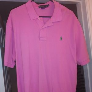Men's xl pink Ralph luaren polo shirt